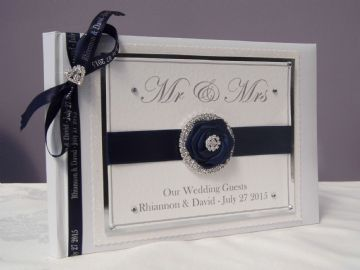 Personalised Wedding Guest Book - Mr & Mrs